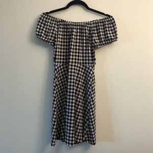 Express Size XS Black and White Gingham Dress